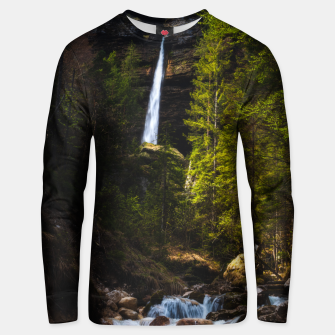 Miniatur Magical fairytale at waterfall Peričnik, Slovenia Unisex sweater, Live Heroes
