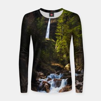 Miniatur Magical fairytale at waterfall Peričnik, Slovenia Women sweater, Live Heroes