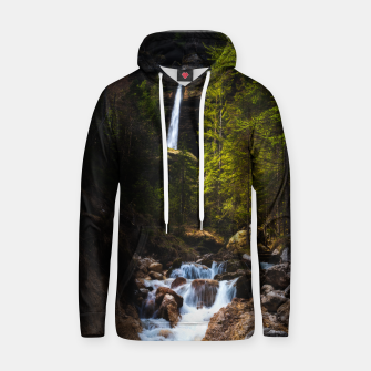 Miniatur Magical fairytale at waterfall Peričnik, Slovenia Hoodie, Live Heroes