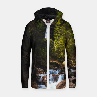 Miniatur Magical fairytale at waterfall Peričnik, Slovenia Zip up hoodie, Live Heroes