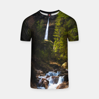 Miniatur Magical fairytale at waterfall Peričnik, Slovenia T-shirt, Live Heroes