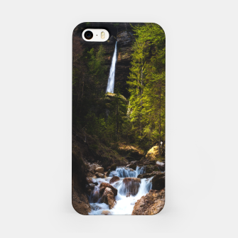 Miniatur Magical fairytale at waterfall Peričnik, Slovenia iPhone Case, Live Heroes