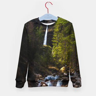 Miniatur Magical fairytale at waterfall Peričnik, Slovenia Kid's sweater, Live Heroes