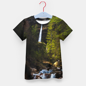 Miniatur Magical fairytale at waterfall Peričnik, Slovenia Kid's t-shirt, Live Heroes