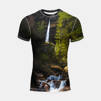 Miniatur Magical fairytale at waterfall Peričnik, Slovenia Shortsleeve rashguard, Live Heroes