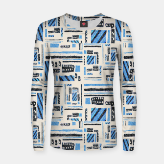 Thumbnail image of Ethnic Geometric Abstract Textured Women sweater, Live Heroes