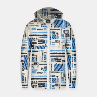 Thumbnail image of Ethnic Geometric Abstract Textured Zip up hoodie, Live Heroes