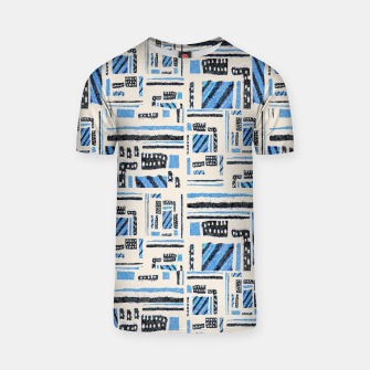 Thumbnail image of Ethnic Geometric Abstract Textured T-shirt, Live Heroes