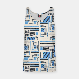 Thumbnail image of Ethnic Geometric Abstract Textured Tank Top, Live Heroes