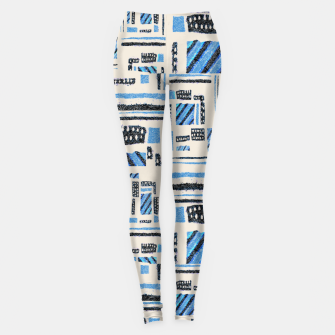 Thumbnail image of Ethnic Geometric Abstract Textured Leggings, Live Heroes
