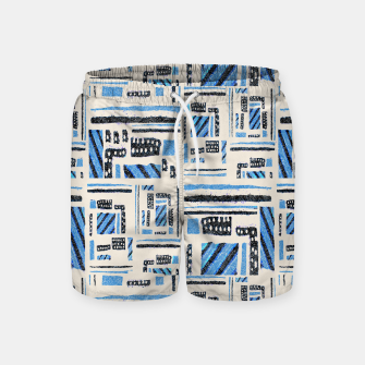 Thumbnail image of Ethnic Geometric Abstract Textured Swim Shorts, Live Heroes