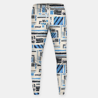 Thumbnail image of Ethnic Geometric Abstract Textured Sweatpants, Live Heroes