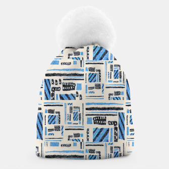 Thumbnail image of Ethnic Geometric Abstract Textured Beanie, Live Heroes