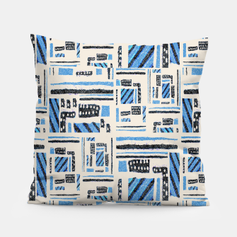 Thumbnail image of Ethnic Geometric Abstract Textured Pillow, Live Heroes