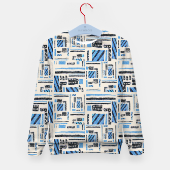 Thumbnail image of Ethnic Geometric Abstract Textured Kid's sweater, Live Heroes