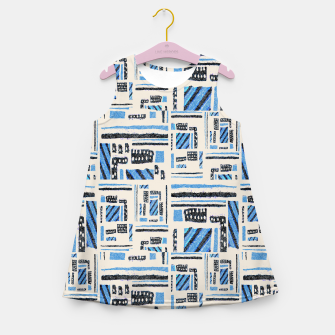 Thumbnail image of Ethnic Geometric Abstract Textured Girl's summer dress, Live Heroes