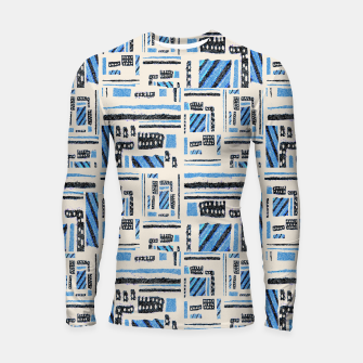 Thumbnail image of Ethnic Geometric Abstract Textured Longsleeve rashguard , Live Heroes