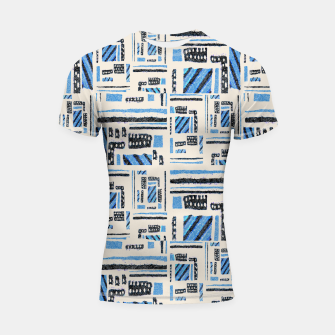 Thumbnail image of Ethnic Geometric Abstract Textured Shortsleeve rashguard, Live Heroes