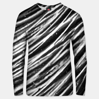 Thumbnail image of Black and White Modern Zebra Print Unisex sweater, Live Heroes