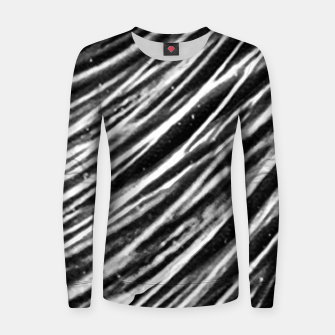 Thumbnail image of Black and White Modern Zebra Print Women sweater, Live Heroes