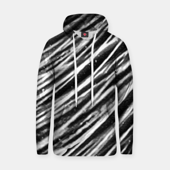 Thumbnail image of Black and White Modern Zebra Print Hoodie, Live Heroes