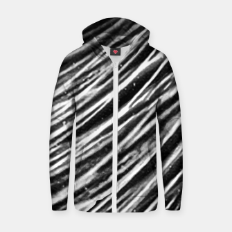 Thumbnail image of Black and White Modern Zebra Print Zip up hoodie, Live Heroes