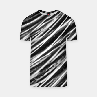Thumbnail image of Black and White Modern Zebra Print T-shirt, Live Heroes