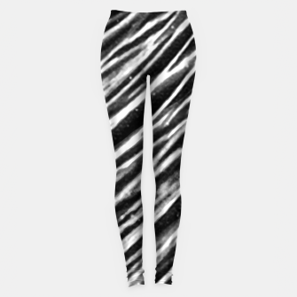 Thumbnail image of Black and White Modern Zebra Print Leggings, Live Heroes
