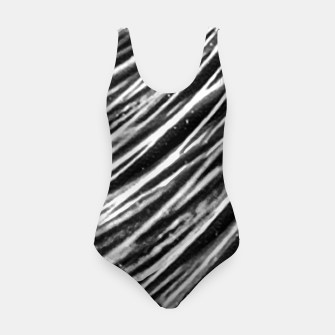 Thumbnail image of Black and White Modern Zebra Print Swimsuit, Live Heroes