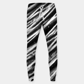 Thumbnail image of Black and White Modern Zebra Print Sweatpants, Live Heroes