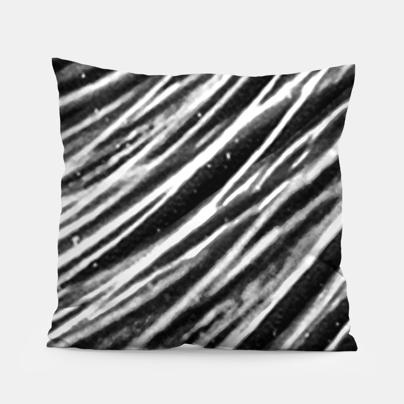 Image of Black and White Modern Zebra Print Pillow - Live Heroes