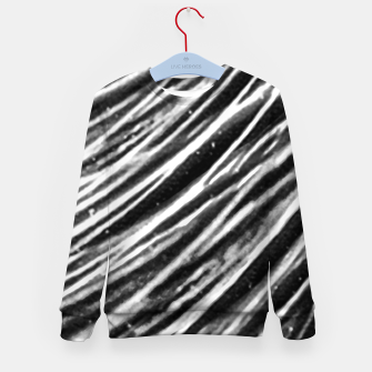 Thumbnail image of Black and White Modern Zebra Print Kid's sweater, Live Heroes