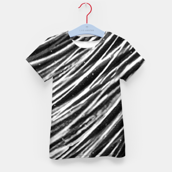 Thumbnail image of Black and White Modern Zebra Print Kid's t-shirt, Live Heroes