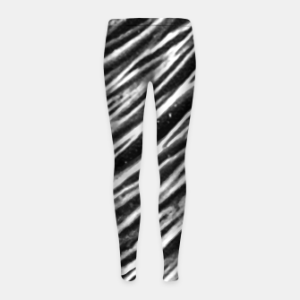 Thumbnail image of Black and White Modern Zebra Print Girl's leggings, Live Heroes