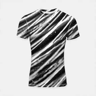 Thumbnail image of Black and White Modern Zebra Print Shortsleeve rashguard, Live Heroes