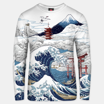 Miniatur Snowy winter in Japan Sudadera unisex, Live Heroes