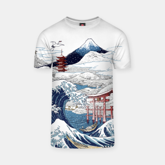Miniatur Snowy winter in Japan Camiseta, Live Heroes