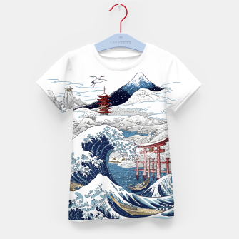 Miniatur Snowy winter in Japan Camiseta para niños, Live Heroes