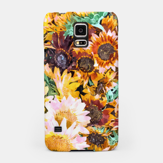 Thumbnail image of Summer Sunflowers, Modern Bohemian Urban Jungle Painting, Botanical Floral Blush Garden Nature Samsung Case, Live Heroes