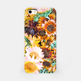 Thumbnail image of Summer Sunflowers, Modern Bohemian Urban Jungle Painting, Botanical Floral Blush Garden Nature iPhone Case, Live Heroes