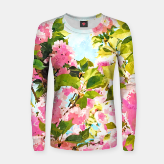 Thumbnail image of Day Dreaming Under The Blooming Bougainvilla Women sweater, Live Heroes