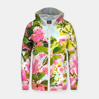 Thumbnail image of Day Dreaming Under The Blooming Bougainvilla Zip up hoodie, Live Heroes
