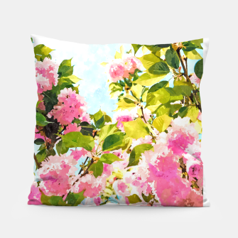 Thumbnail image of Day Dreaming Under The Blooming Bougainvilla Pillow, Live Heroes
