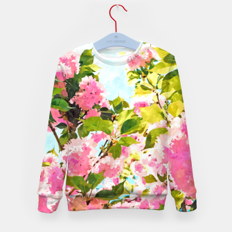 Thumbnail image of Day Dreaming Under The Blooming Bougainvilla Kid's sweater, Live Heroes