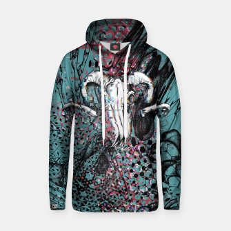 Thumbnail image of Horns Glitch Hoodie, Live Heroes