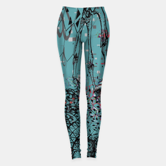 Thumbnail image of Horns Glitch Leggings, Live Heroes