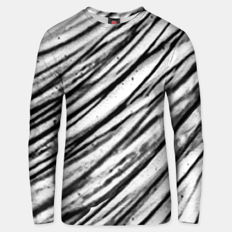 Thumbnail image of White and Black Modern Zebra Print Unisex sweater, Live Heroes