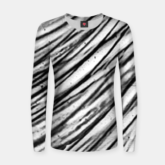 Thumbnail image of White and Black Modern Zebra Print Women sweater, Live Heroes