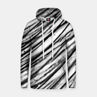 Thumbnail image of White and Black Modern Zebra Print Hoodie, Live Heroes