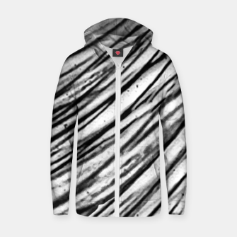 Thumbnail image of White and Black Modern Zebra Print Zip up hoodie, Live Heroes